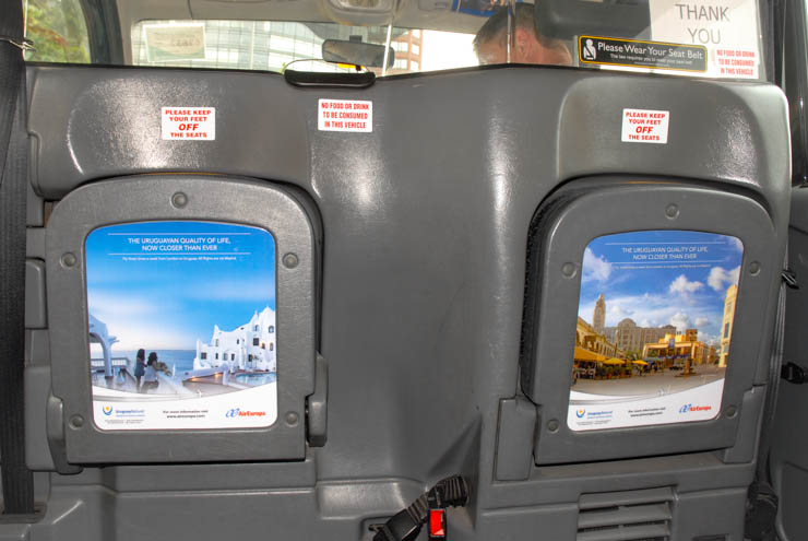 2013 Ubiquitous taxi advertising campaign for Air Europa - The Uruguayan Quality of Life, Now Closer Than Ever