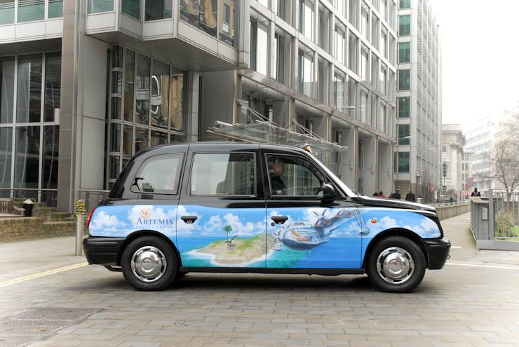 2012 Ubiquitous taxi advertising campaign for Artemis - Artemis Investments
