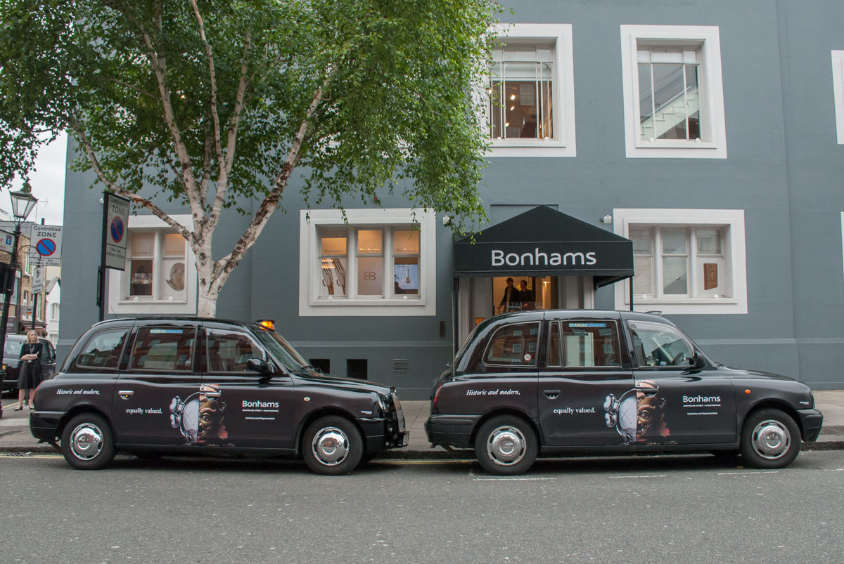 2017 Ubiquitous campaign for Bonhams - Historic and modern, equally valued.
