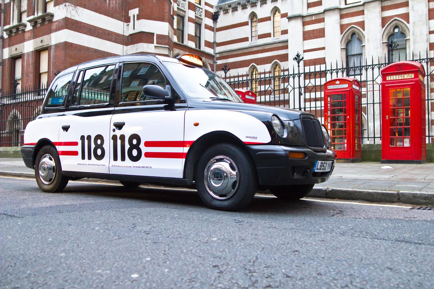 2011 Ubiquitous taxi advertising campaign for 118 118 - 118 118