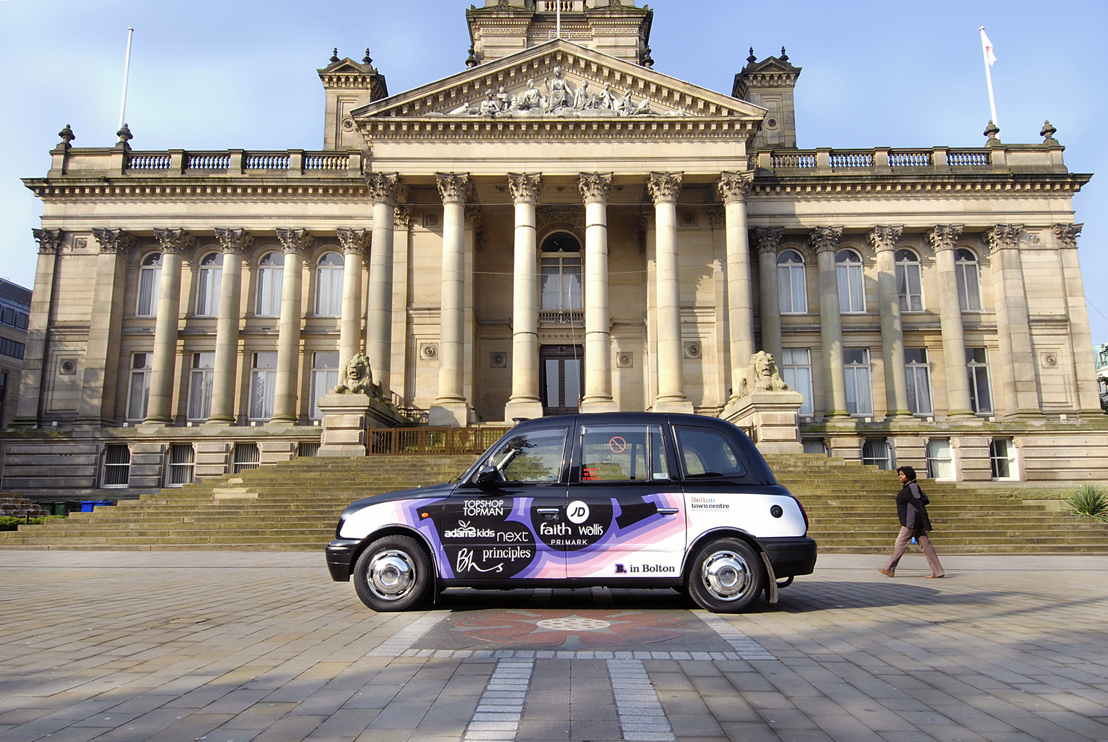 2008 Ubiquitous taxi advertising campaign for Bolton Council - In Bolton