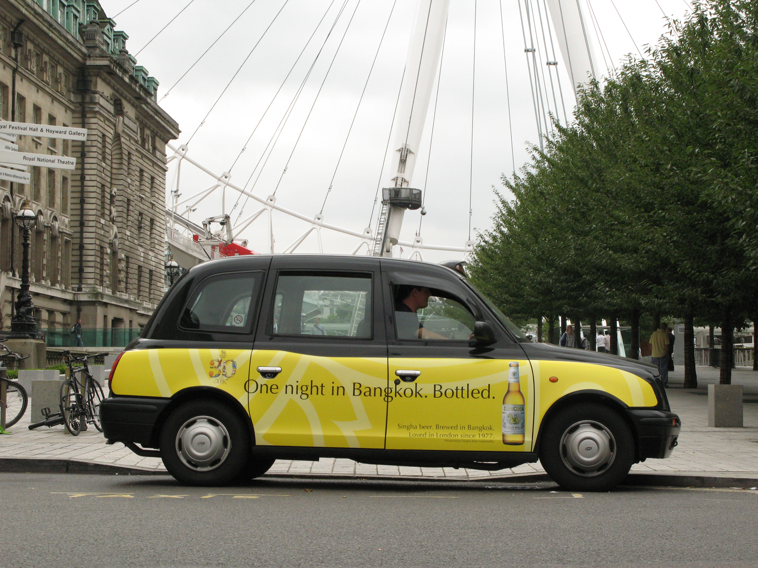 2007 Ubiquitous taxi advertising campaign for Singha Beer - 30 years of getting to know you