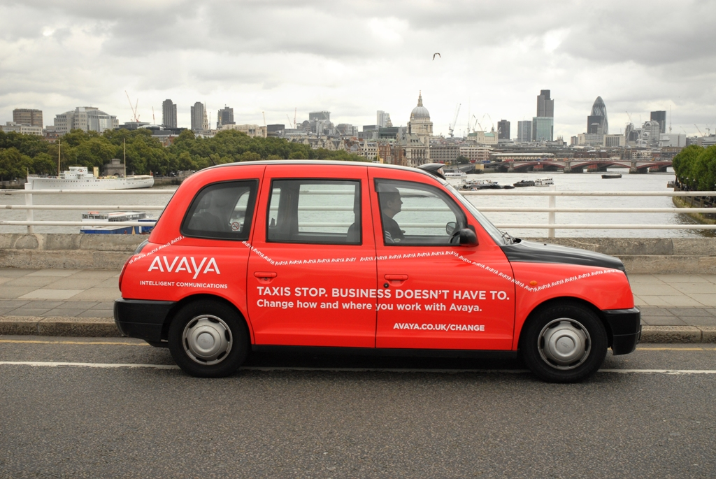 2008 Ubiquitous taxi advertising campaign for Avaya - Intelligent Communications