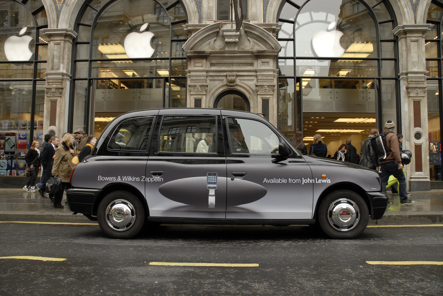 2008 Ubiquitous taxi advertising campaign for Bowers & Wilkins - Available at John Lewis