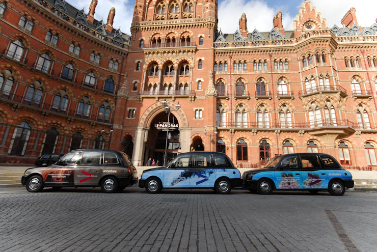 2011 Ubiquitous taxi advertising campaign for Accenture  - High Performance Delivered