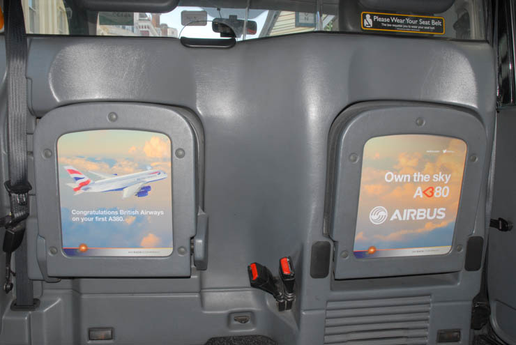 2013 Ubiquitous taxi advertising campaign for AirBus - Own The Sky