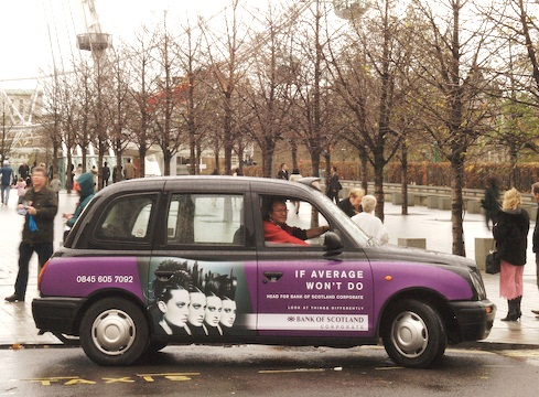 2006 Ubiquitous taxi advertising campaign for Bank of Scotland - Bank of Scotland