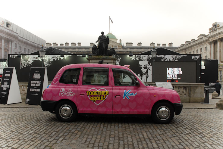 2011 Ubiquitous taxi advertising campaign for Mattel  - Together Again!