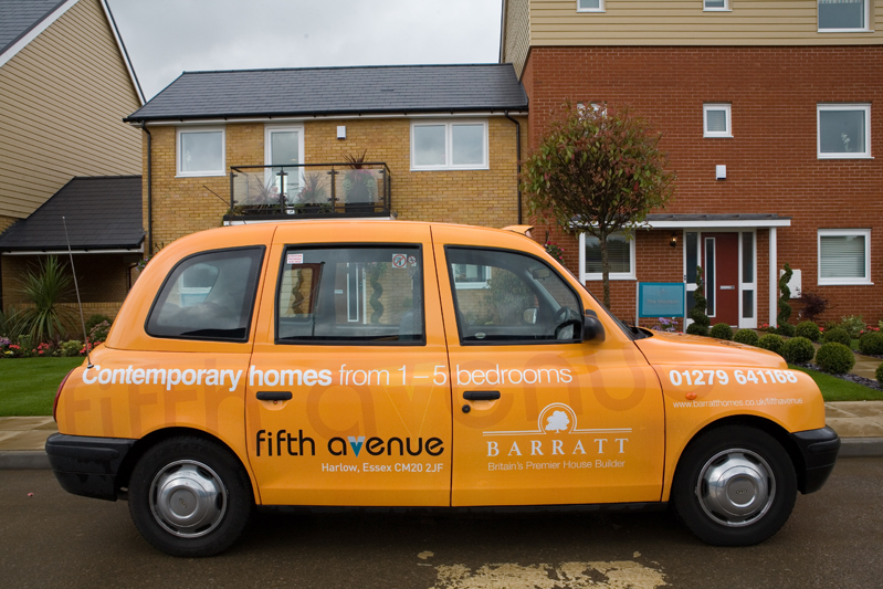 2007 Ubiquitous taxi advertising campaign for Barratt Homes - Contemporary Homes from 1-5 Bedrooms