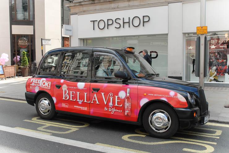 2011 Ubiquitous taxi advertising campaign for Bella Vie - Bella Vie