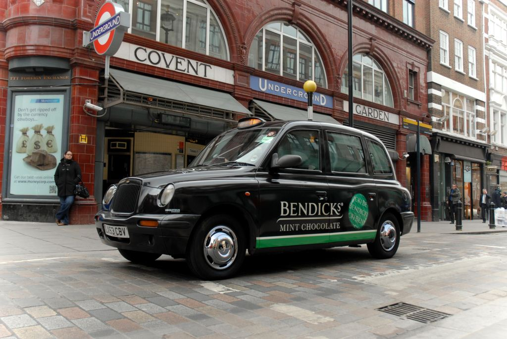 2012 Ubiquitous taxi advertising campaign for Bendicks - Wonderfully Intense