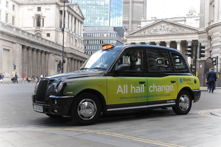 2011 Ubiquitous taxi advertising campaign for Blackrock  - All Hail Change