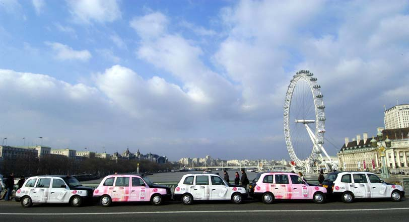2009 Ubiquitous taxi advertising campaign for LG - Style That Lasts