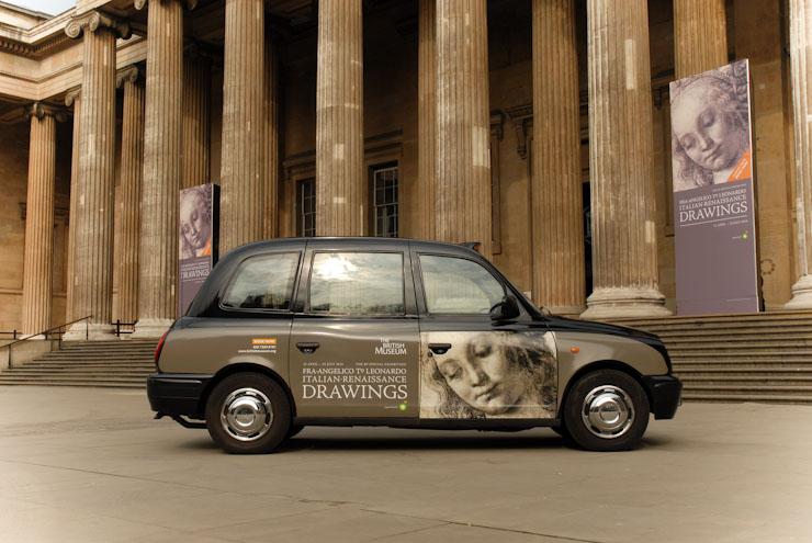 2010 Ubiquitous taxi advertising campaign for British Museum - Fra Angelico to Leonardo