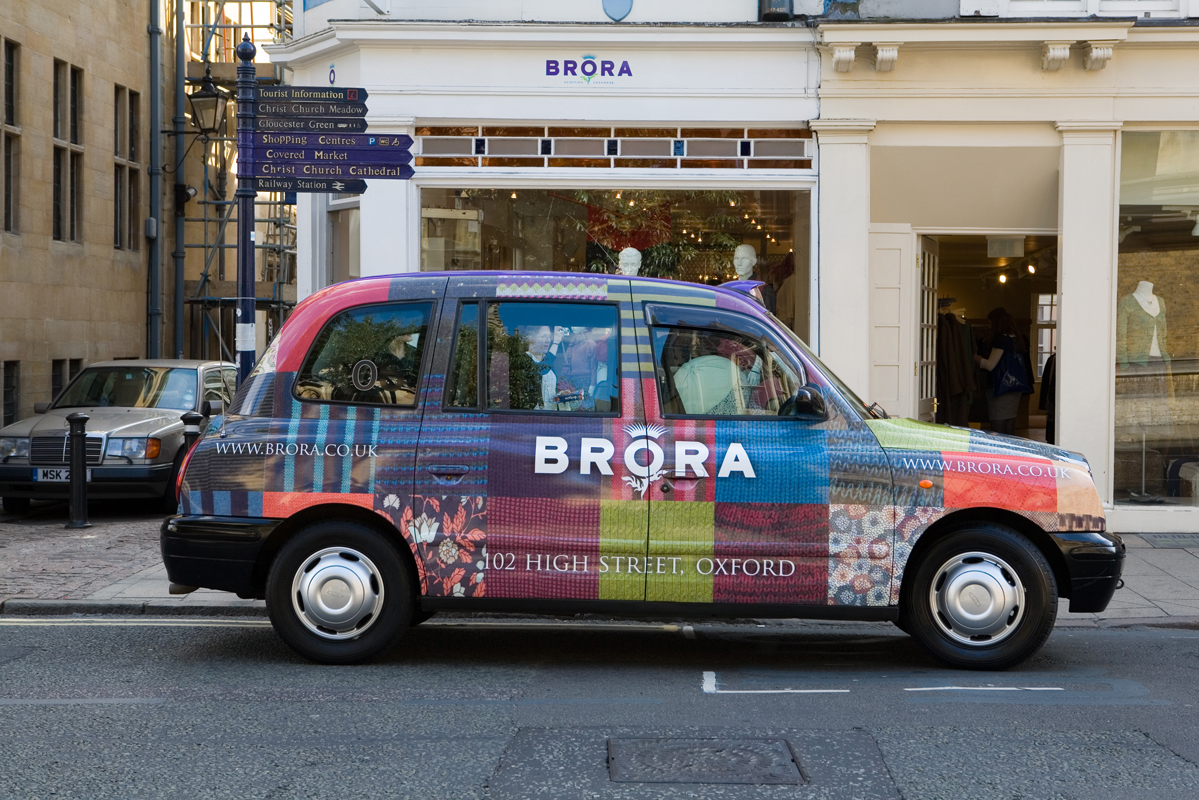 2007 Ubiquitous taxi advertising campaign for Brora - 102 High Street, Oxford