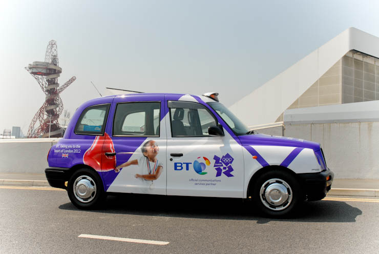 2012 Ubiquitous taxi advertising campaign for BT - Taking You to the Heart of London 2012