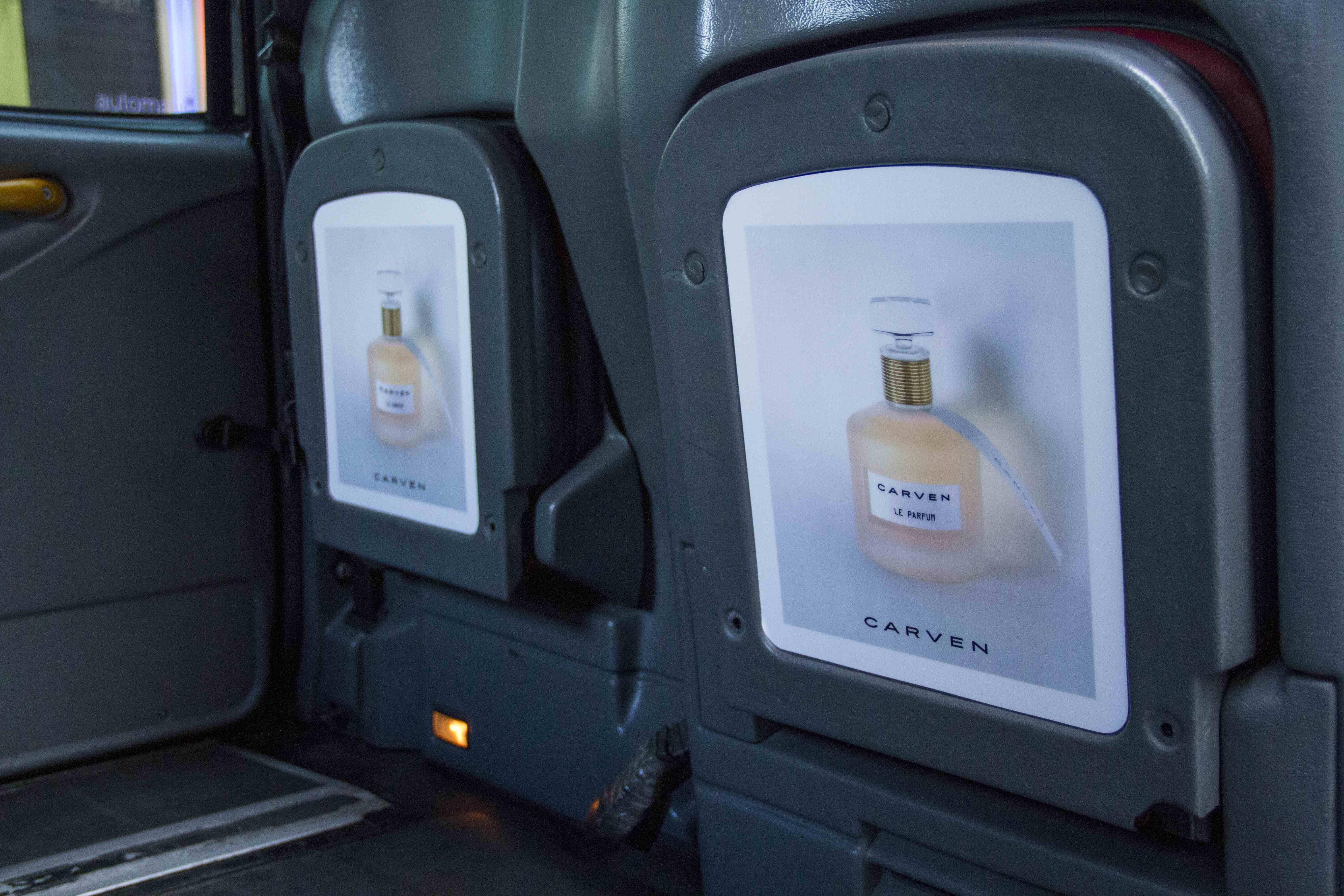 2013 Ubiquitous taxi advertising campaign for Carven - Carven Parfums