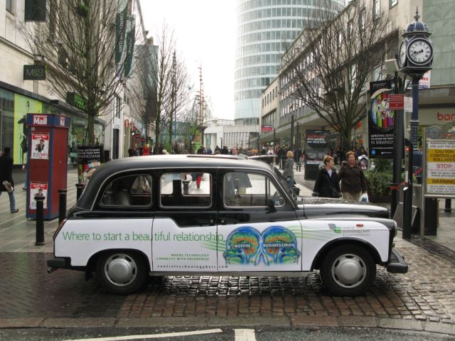 2007 Ubiquitous taxi advertising campaign for Central Technology Belt - Where to start a beautiful relationship