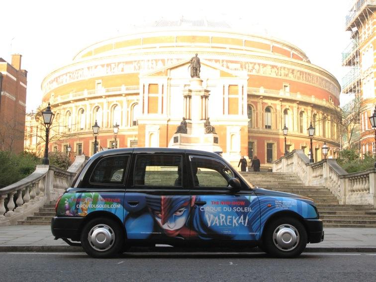 2008 Ubiquitous taxi advertising campaign for Cirque Du Soleil - Varekai