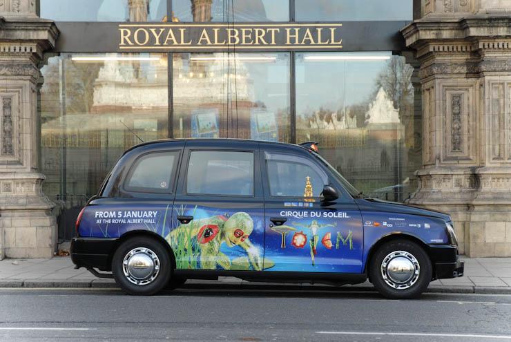 2011 Ubiquitous taxi advertising campaign for Cirque Du Soleil - Totem
