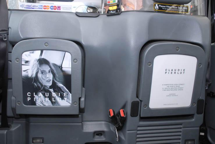 2014 Ubiquitous taxi advertising campaign for Claudie Pierlot Paris - Claudie Pierlot