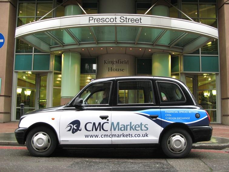 2008 Ubiquitous taxi advertising campaign for CMC Markets - CMC Markets