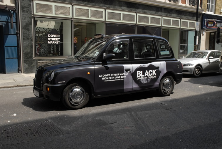 2009 Ubiquitous taxi advertising campaign for Commes Des Garcons - At Dover Street Market
