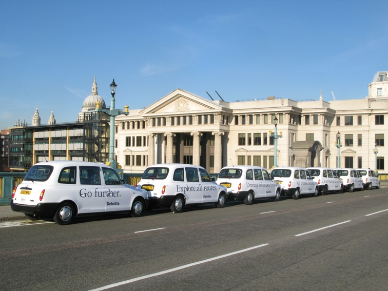 2007 Ubiquitous taxi advertising campaign for Deloitte - Various