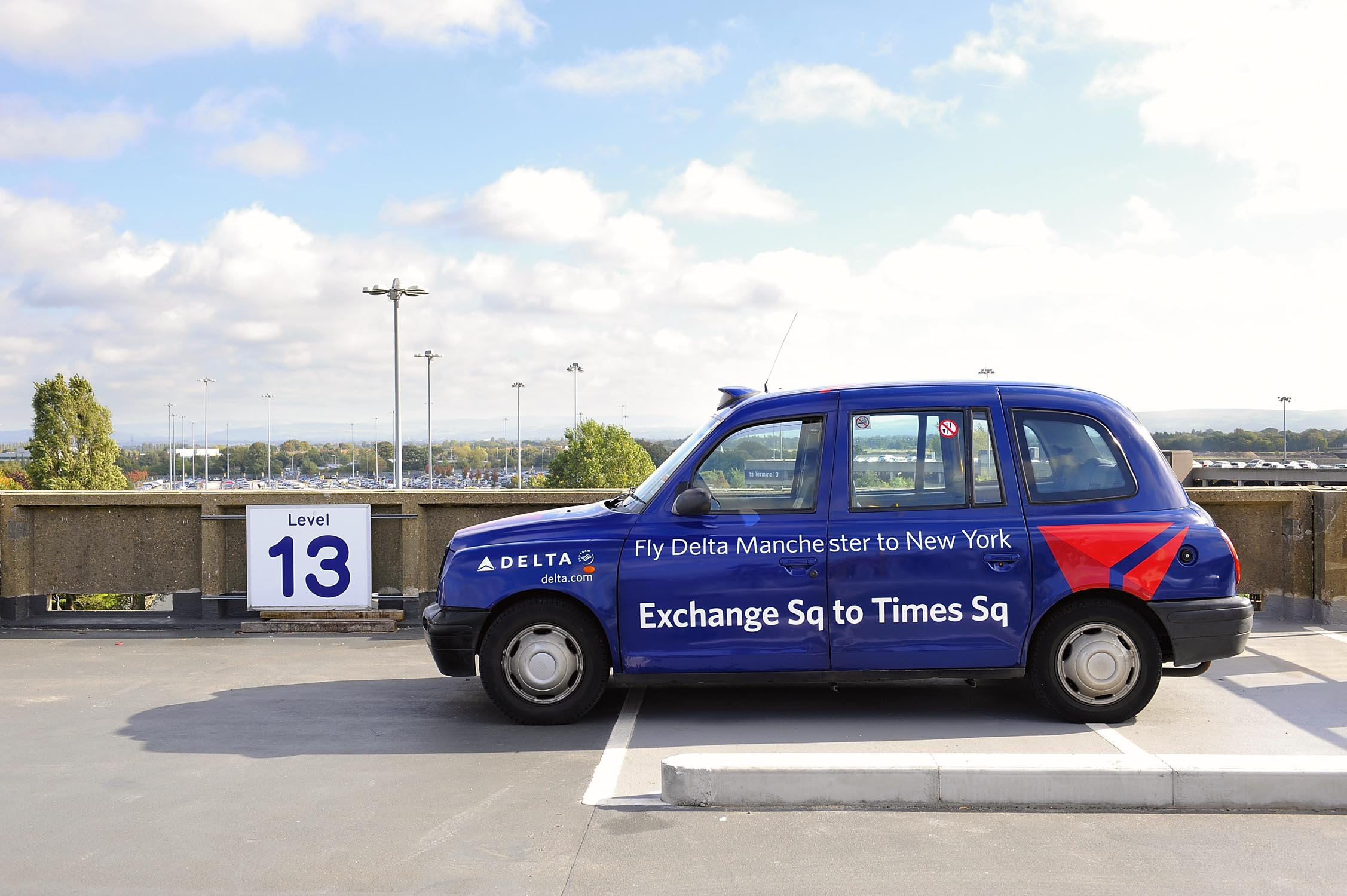 2008 Ubiquitous taxi advertising campaign for Manchester Airport - Delta Airlines