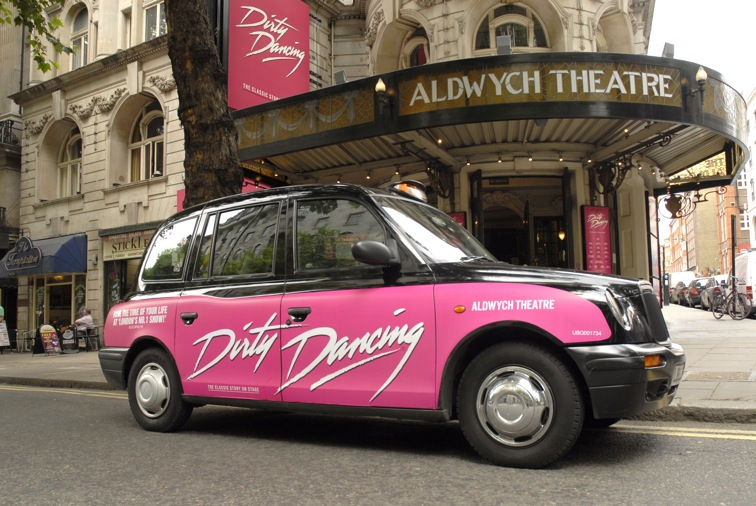 2009 Ubiquitous taxi advertising campaign for AKA - Dirty Dancing