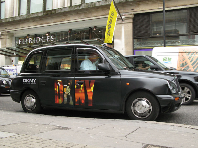 2007 Ubiquitous taxi advertising campaign for DKNY - DKNY