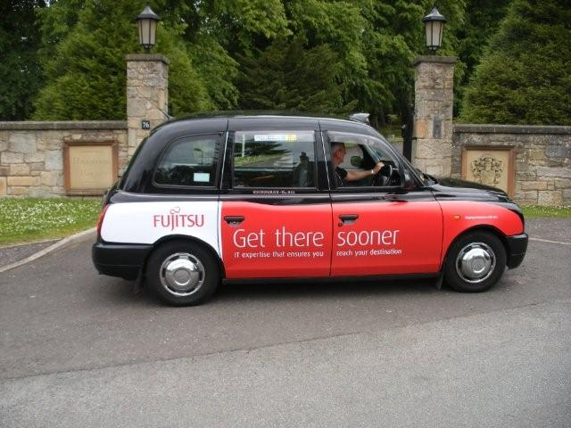 2010 Ubiquitous taxi advertising campaign for Fujitsu  - Get There Sooner