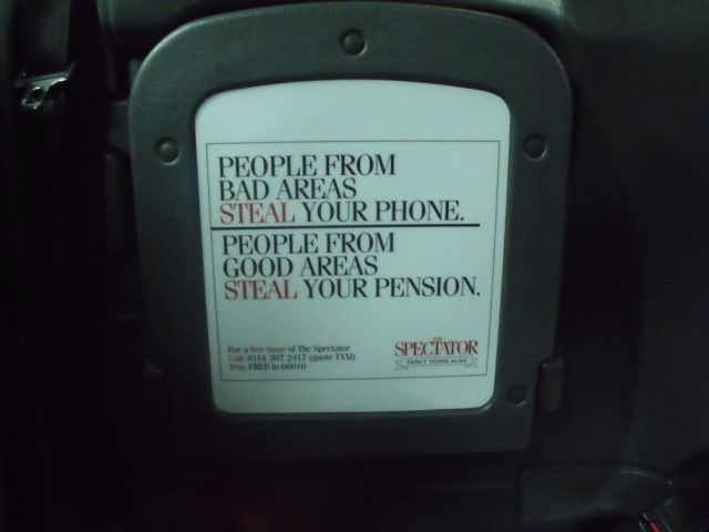 2011 Ubiquitous taxi advertising campaign for Spectator - Don't Think Alike