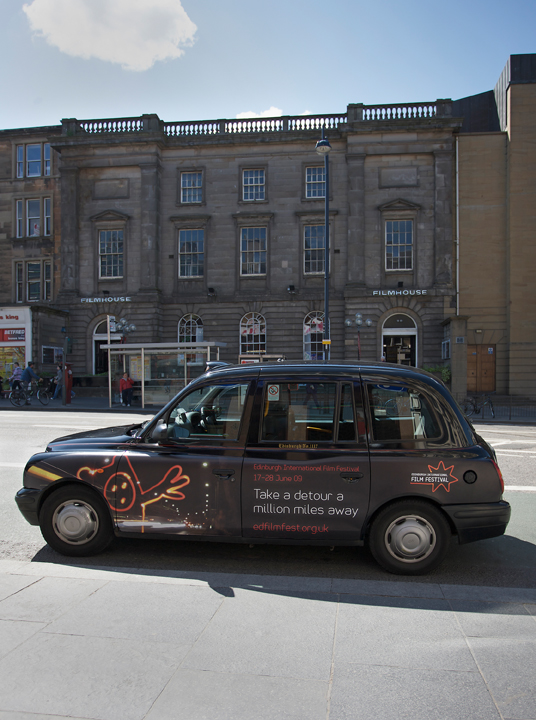 2009 Ubiquitous taxi advertising campaign for Edinburgh Film Festival - Various