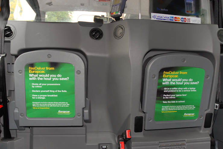 2011 Ubiquitous taxi advertising campaign for Europcar - Free Deliver From Europcar