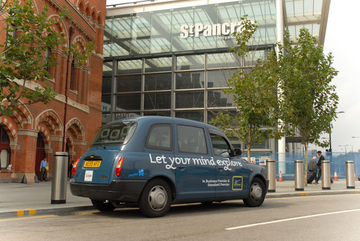 2010 Ubiquitous taxi advertising campaign for Eurostar  - Eurostar