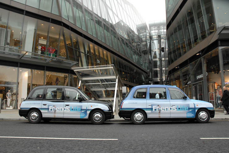 2011 Ubiquitous taxi advertising campaign for Friends Life - Friends Life