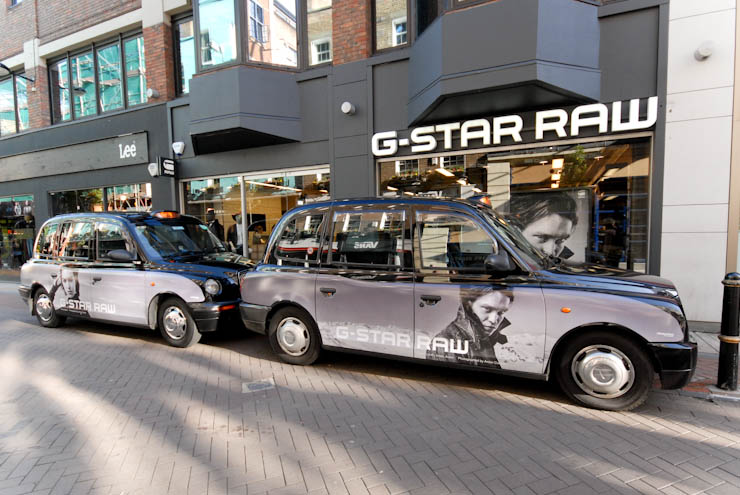 2012 Ubiquitous taxi advertising campaign for G Star - G-Star Raw
