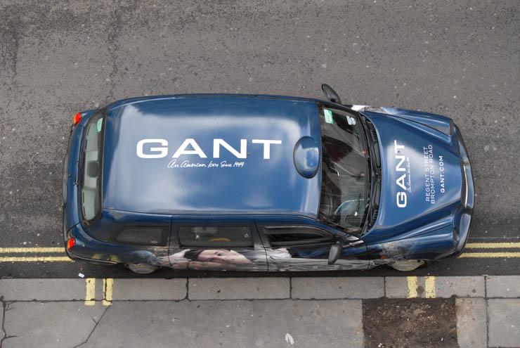 2013 Ubiquitous taxi advertising campaign for Gant - Gant