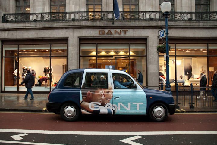 2010 Ubiquitous taxi advertising campaign for Gant - Regent Street Store Opening