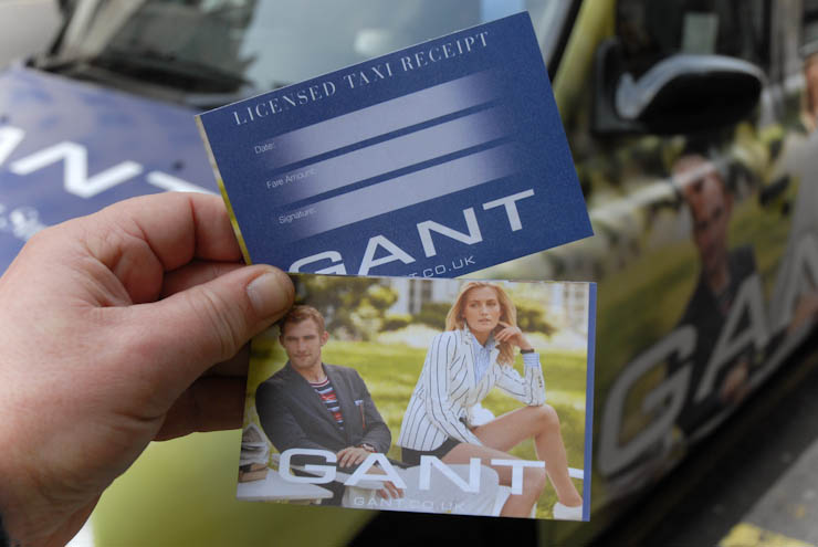 2012 Ubiquitous taxi advertising campaign for Gant - 187-191 Regent Street