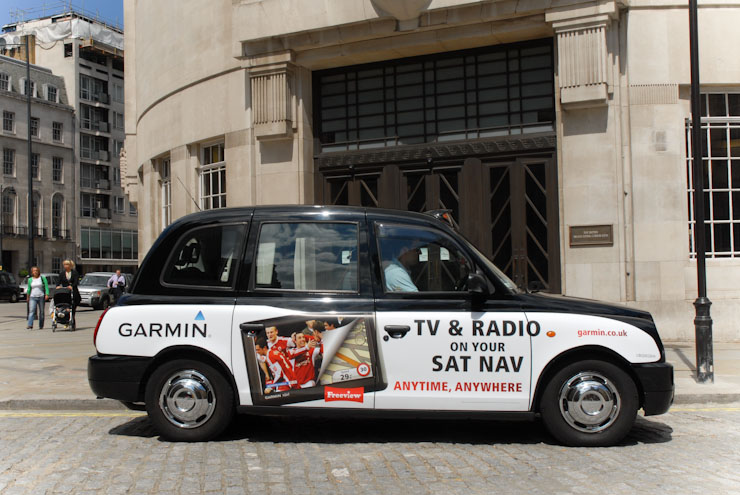 2010 Ubiquitous taxi advertising campaign for Garmin  - Garmin