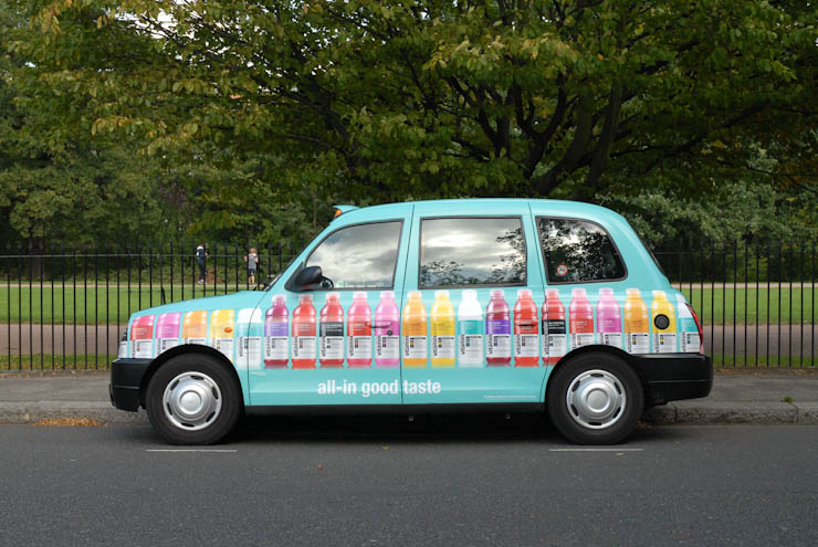 2011 Ubiquitous taxi advertising campaign for Glaceau - All-In Good Taste