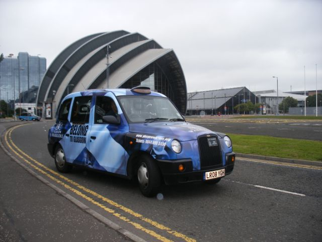 2010 Ubiquitous taxi advertising campaign for Scottish Rugby - Glasgow Warriors