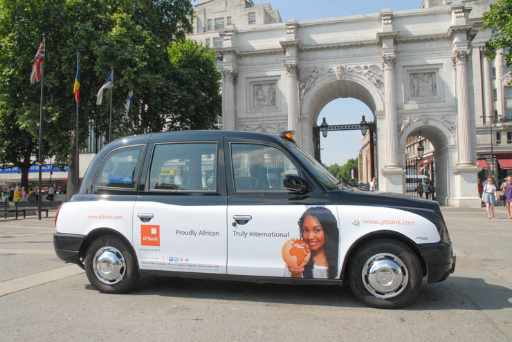 2013 Ubiquitous taxi advertising campaign for GT Bank - Proudly African; Truly International
