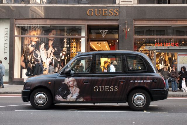 2010 Ubiquitous taxi advertising campaign for Guess - Guess