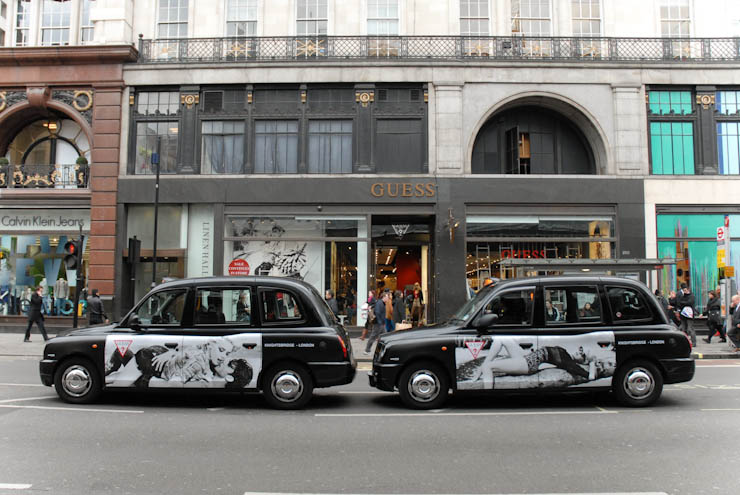 2012 Ubiquitous taxi advertising campaign for Guess - Guess USA