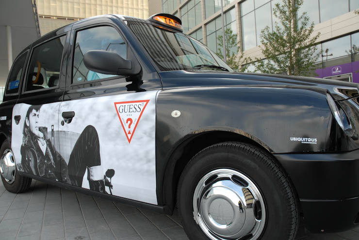 2011 Ubiquitous taxi advertising campaign for Guess - Guess