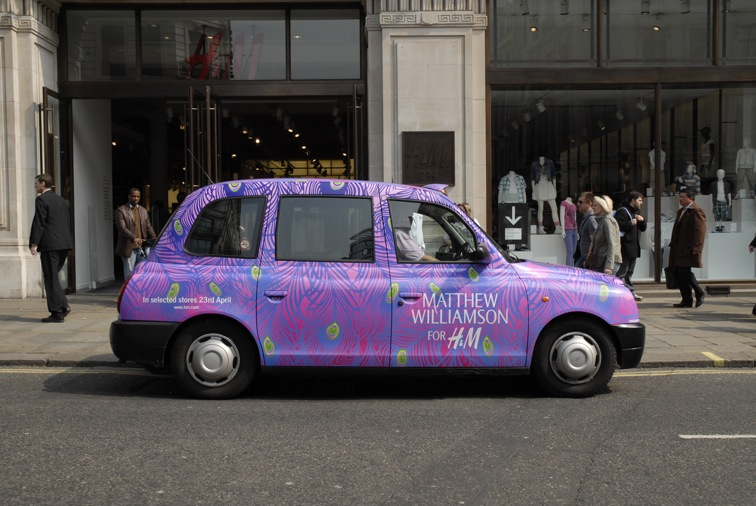 2009 Ubiquitous taxi advertising campaign for H&M - Matthew Williamson For H&M