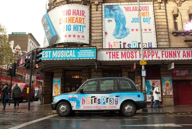 2009 Ubiquitous taxi advertising campaign for AKA - Hairspray
